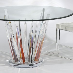 CR1500C  E Crystal dinette Earth Tone color