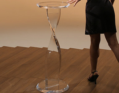 Acrylic Display Pedestal Tables
