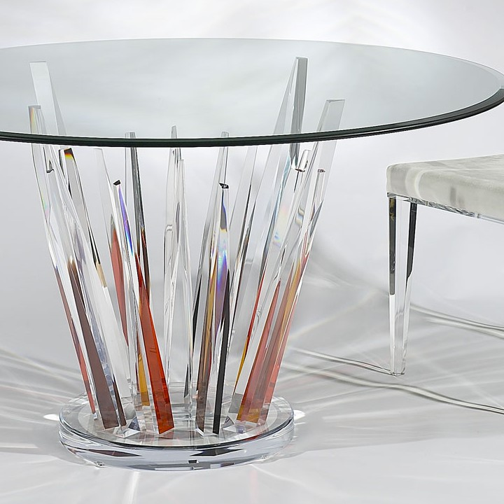 Crystals Colored Dinette, Acrylic Dining Chair, Acrylic
