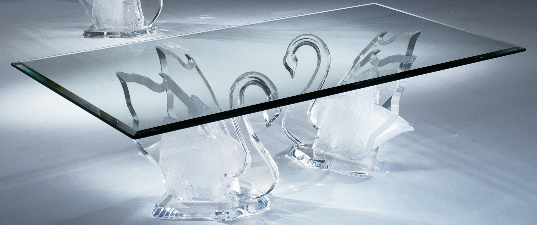 Legend Swan Clear Acrylic Coffee Table - Shahrooz Art